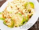 Рецепта Фузили (паста) с тиквички и сирене моцарела